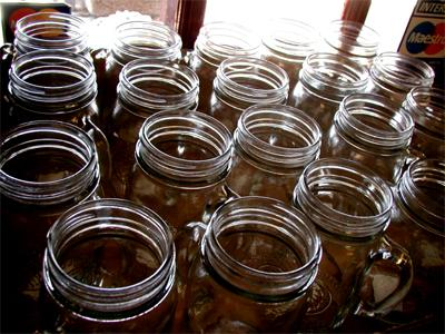Canning jars at Oak Tree Village